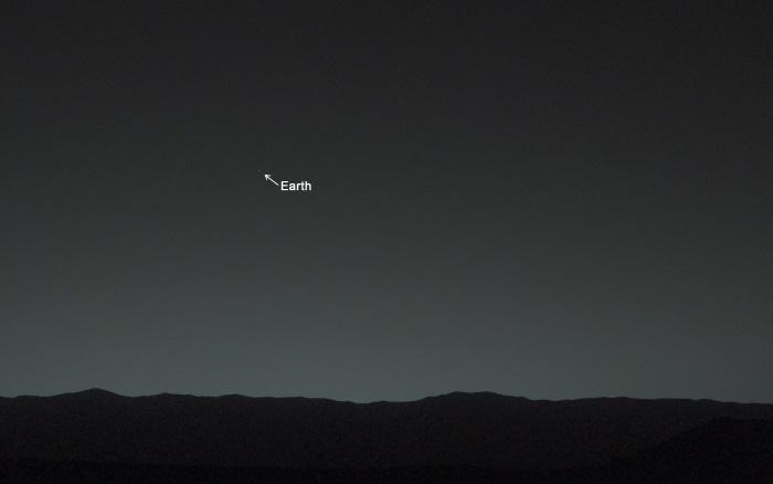 A Terra vista de Marte, pela Curiosity