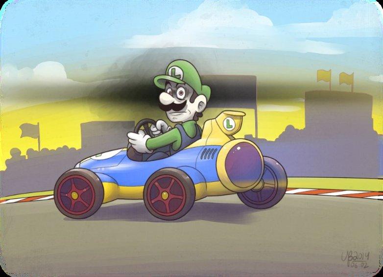 Luigi creepy death stare