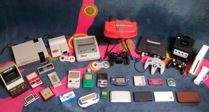 Algumas das consolas da Nintendo