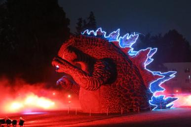 Estátua gigante de Godzilla em Tóquio