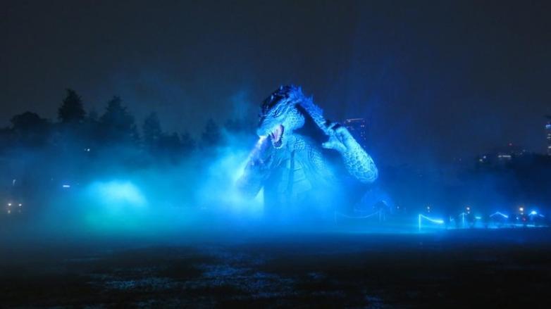 Estátua gigante Godzilla